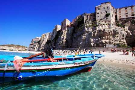 Boats On The Beach At Tropea