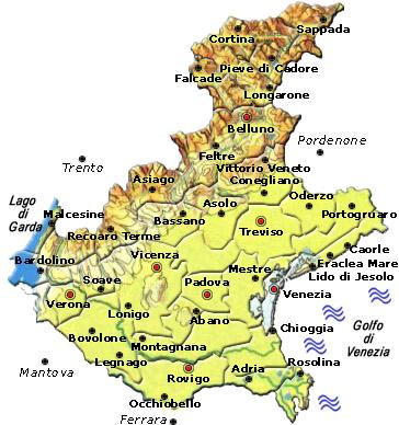 Cartina Veneto Treviso.Visitsitaly Com Welcome To The Veneto Region Venice Treviso Verona Vicenza Etc