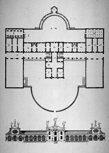 Villa Barbaro Plan Floor Plan of Villa Barbarao