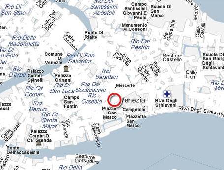 VisitsItalycom Welcome To The Hotel Kette In Venice Italy - Venice san marco map
