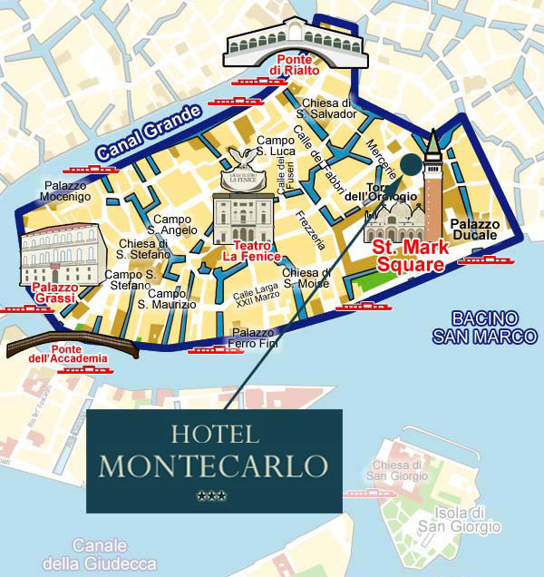 VisitsItalycom Welcome to the Hotel Montecarlo in Venice Italy